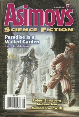 Cover of August 2011 issue of Asimov's Science Fiction