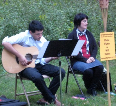 Katy Flynn and Will Yanez performing at the 2011 Meadowbrook Jazz Walk