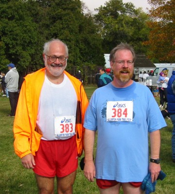 Chuck McCaffery and me, after finishing the Allerton Park Trail Race in 2003