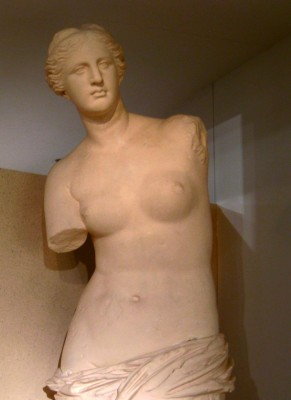 Plaster copy of Venus de Milo.