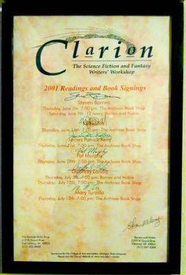 clarion-2001-poster-framed