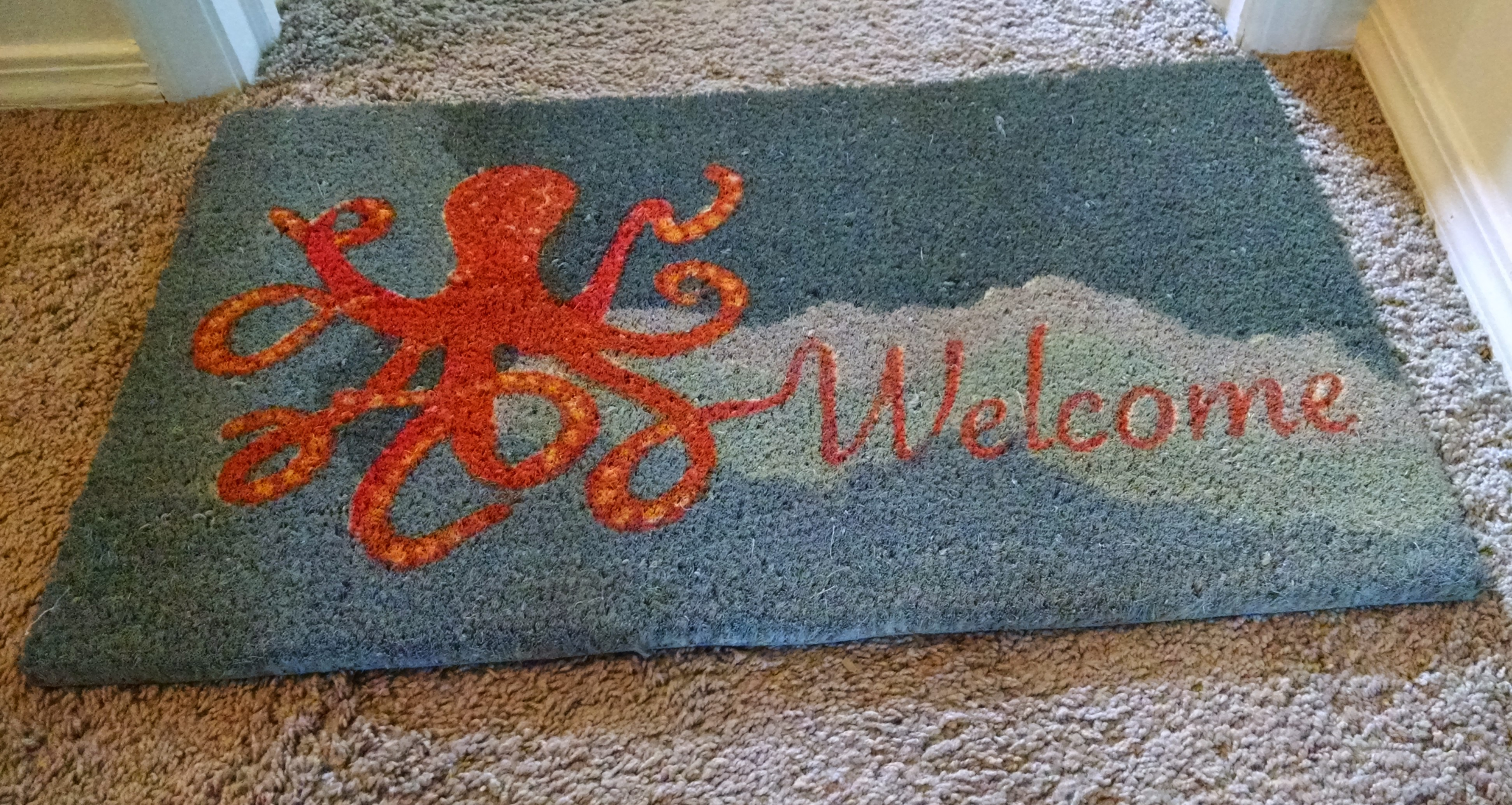 coir door en coco vc customized personalized mat doormat welcome m monogrammed