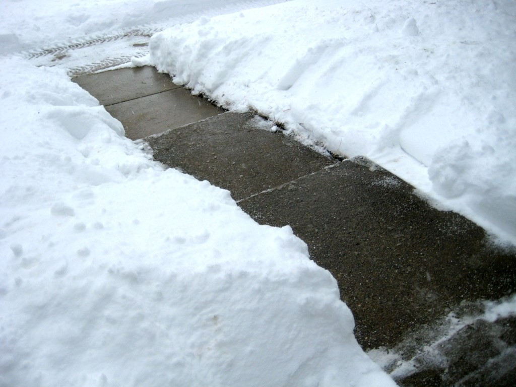 My sidewalk, shoveled