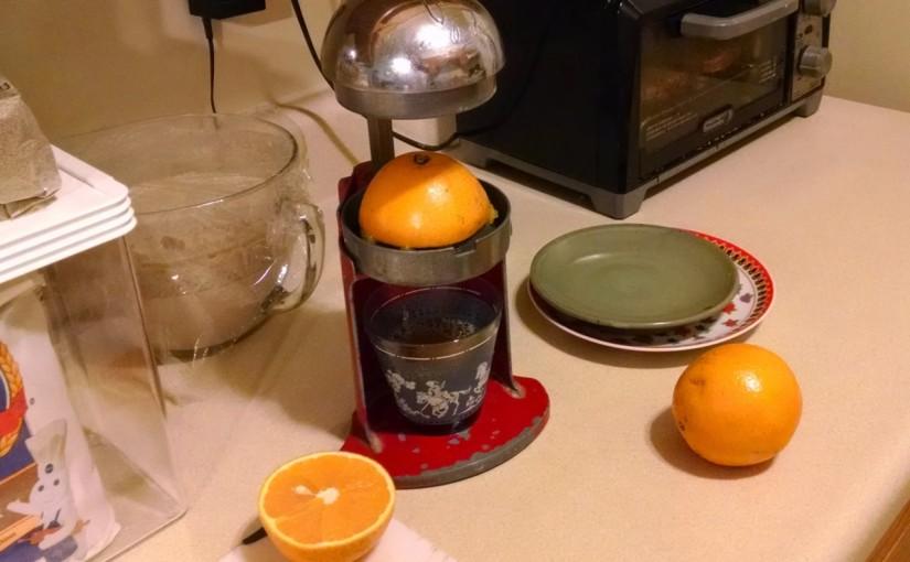 Fresh squoze orange juice