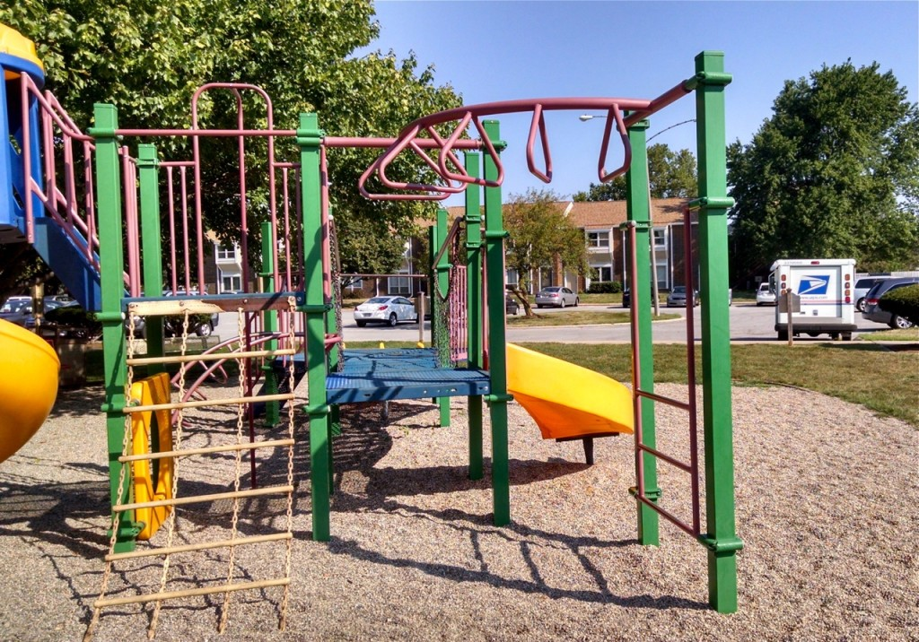 Bars for brachiating at Winfield Village playground