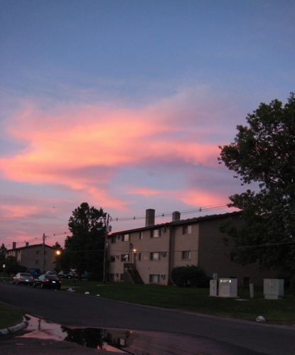 Pretty Sky over Country Fair Apartments (photo by Philip Brewer)