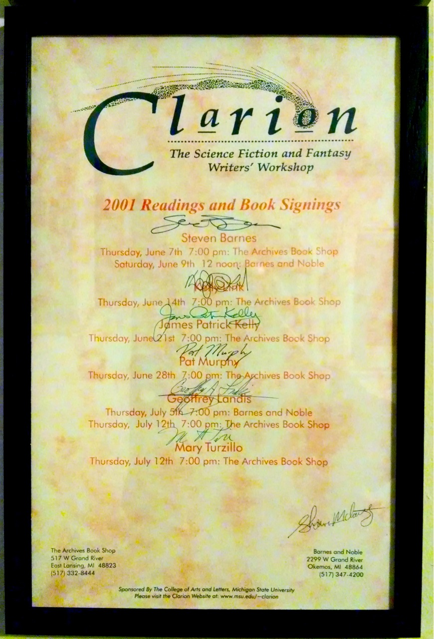 Clarion 2001 poster