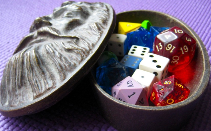 The singular of dice