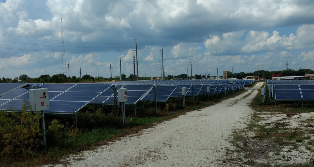 Effect of eclipse on solar farm