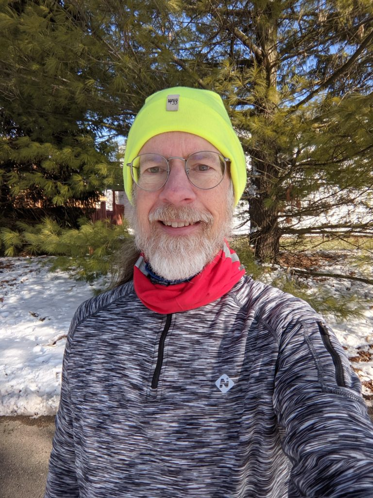 Selfie in my new running top